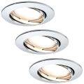 Paulmann 92780 - Set 3xLED/6,8W Iluminación empotrable baño COIN 230V