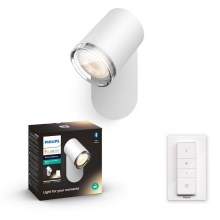 Philips 34178/31/P6 - LED Aplique regulable para el baño HUE ADORE 1xGU10/5W/230V IP44 + control remoto