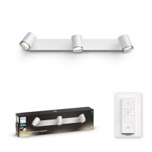 Philips 34180/31/P6 - LED Aplique regulable para el baño HUE ADORE 3xGU10/5W/230V IP44