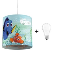 Philips 71751/90/16 - LED Lámpara colgante infantil DISNEY FINDING DORY 1xE27/8,5W/230V