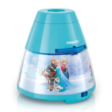 Philips 71769/08/16 - LED Proyector infantil DISNEY FROZEN 1xLED/0,1W/3xAA