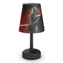 Philips 71889/30/16 - Lámpara de mesa infantil STAR WARS DARTH VADER 1xLED/0,6W/3xAA
