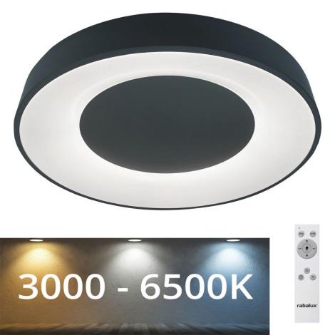 Rabalux - Plafón LED Regulable LED/38W/230V negro + CR 3000-6500K