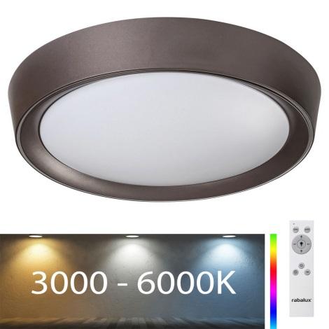 Rabalux - Plafón LED RGB Regulable LED/24W/230V + CR 3000-6000K