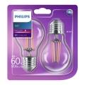 SET 2x Bombilla LED E27/6W/230V - Philips
