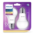 SET 2x Bombilla LED Philips E27/13W/230V