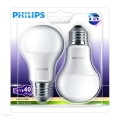 SET 2x Bombilla LED Philips E27/6W/230V 2700K