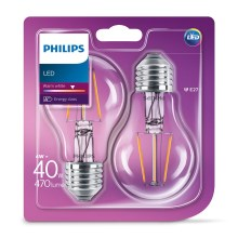 SET 2x Bombilla LED VINTAGE Philips E27/4W/230V 2700K