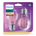 SET 2x Bombilla LED VINTAGE Philips E27/7W/230V 2700K