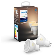 SET 2x LED Bombilla regulable Philips HUE WHITE AMBIANCE GU10/5,5W/230V 2200-6500K
