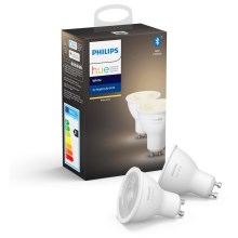SET 2x LED Bombilla regulable Philips HUE WHITE GU10/5,2W/230V 2700K