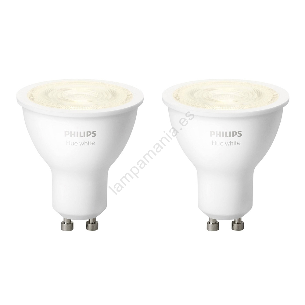 SET 2x LED Bombilla regulable Philips HUE WHITE GU105,2W230V 2700K