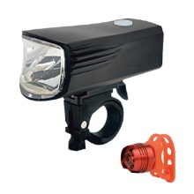 SET 2x LED Linterna de bicicleta recargable LED/5W/USB IP44
