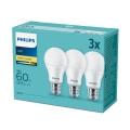 SET 3x Bombilla LED Philips E27/9W/230V 2700K