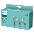 SET 3x Bombilla LED VINTAGE Philips A60 E27/7W/230V 2700K