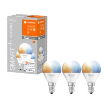 SET 3x LED Bombilla regulable SMART+ E14/5W/230V 2700K-6500K wi-fi - Ledvance