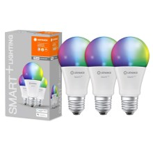 SET 3x LED RGB Bombilla regulable SMART+ E27/14W/230V 2700K-6500K wi-fi - Ledvance
