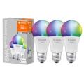 SET 3x LED RGB Bombilla regulable SMART+ E27/9,5W/230V 2700K-6500K Wi-Fi - Ledvance
