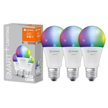 SET 3x LED RGB Bombilla regulable SMART+ E27/9W/230V 2700K-6500K wi-fi - Ledvance