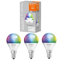 SET 3x LED RGBW Bombilla regulable SMART+ E14/5W/230V 2700K-6500K wi-fi - Ledvance