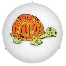 Top Light - Aplique infantil 5502/40/tortuga 2xE27/60W