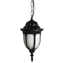 Top Light ROMA - Lámpara colgante exterior 1xE27/60W/230V negra