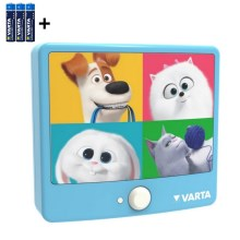 Varta 15642 - LED Aplique infantil con sensor THE SECRET LIFE OF PETS LED/3xAAA