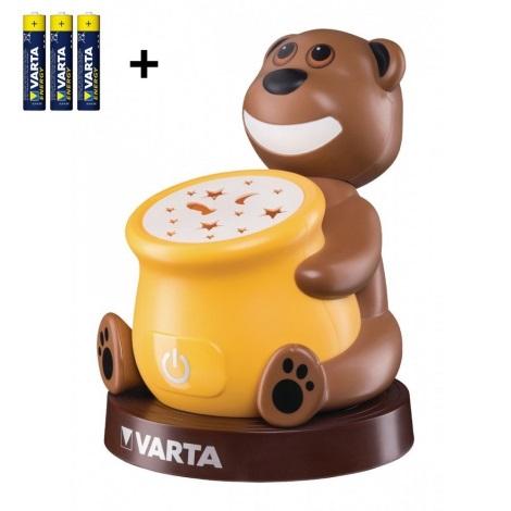 Varta 17501 - LED Proyector infantil PAUL 2xLED/3xAAA